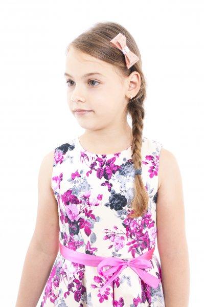Rochii fete alba cu flori 2015 roz flori 1-12ani