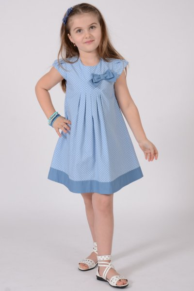 Rochii fete albastra cu buline 1477 3-8ani