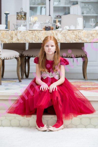 Rochii fete hey princess 111.20 rosu 3luni-12ani