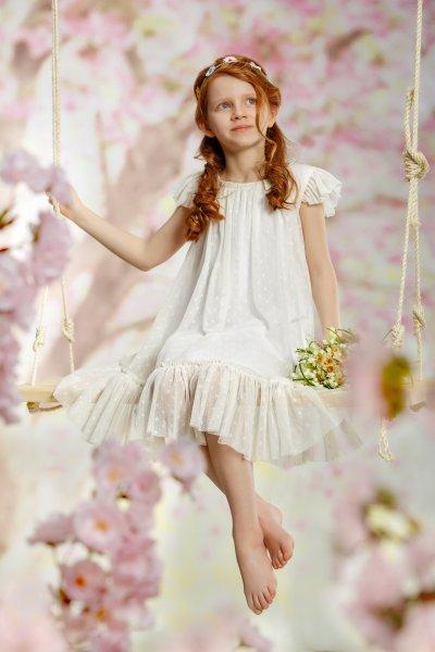 Rochii fete hey princess Orchid 105.03 alb 5-9ani