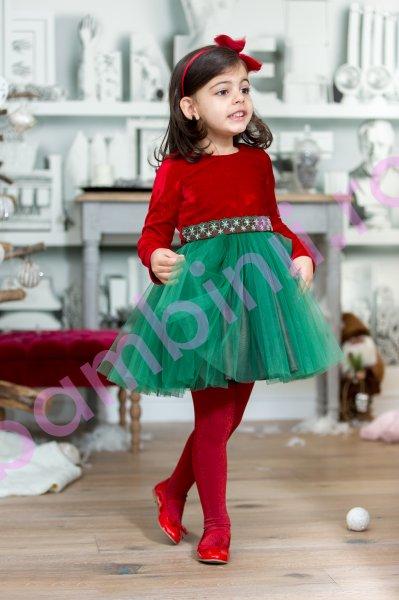 Rochita fete Merry Christmas 143.04 rosu 2-12ani
