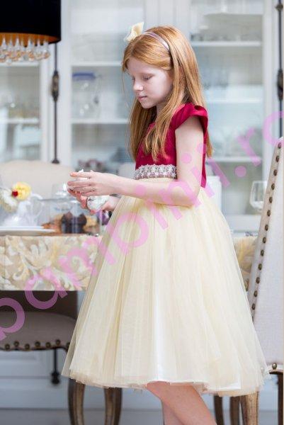 Rochita fete hey princess 166.20 auriu 3luni-12ani