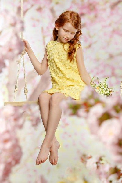 Rochita fete hey princess Narcisa 01.20 galben 3-11ani
