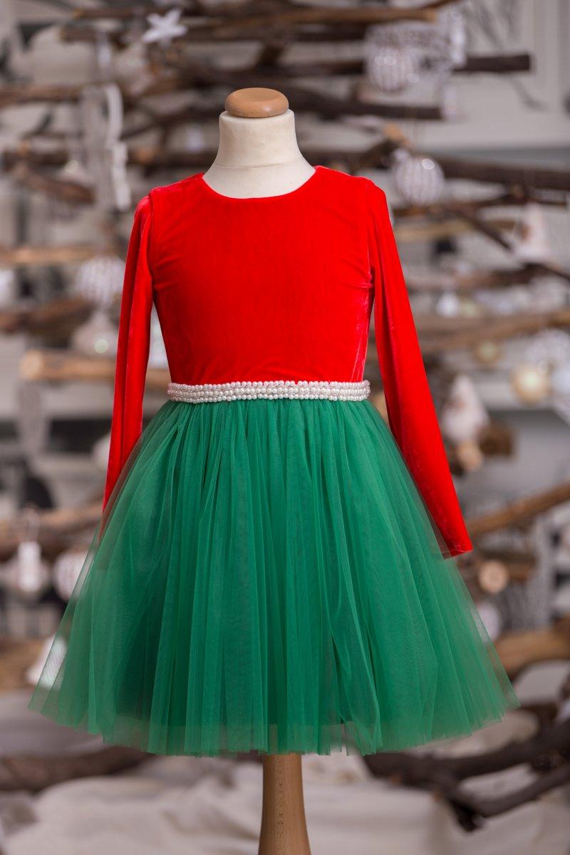 Rochita fetite spiridus hey princess rosu verde 3luni-12ani