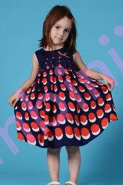 Rochite fete 1343 bleumarin cu buline rosii 1-6ani