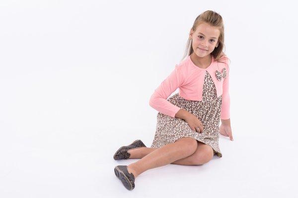 Rochite fete 5940 roz leopard 110-140cm