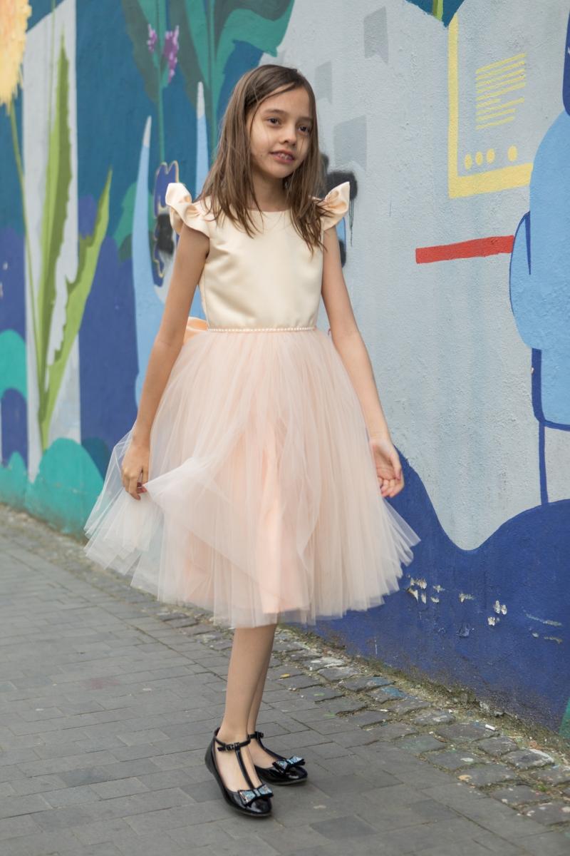 Rochite fete Hey Princess 100.02 roz galben pai 1-12ani