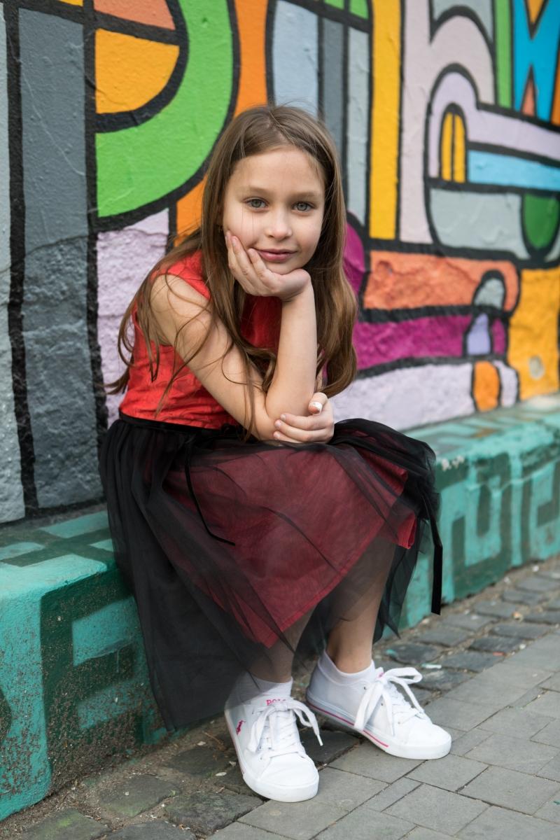 Rochite fete Hey Princess 111.01 corai negru 1-12ani