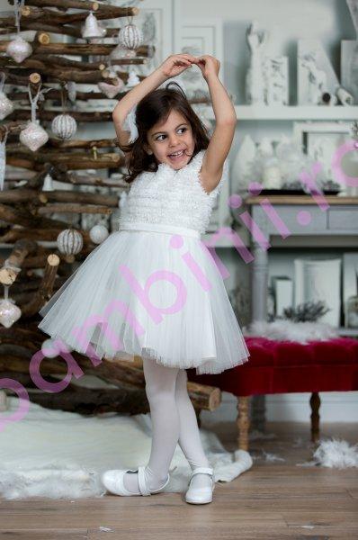 Rochite fete fulg de nea Hey Princess 205.03 alb 3luni-12ani