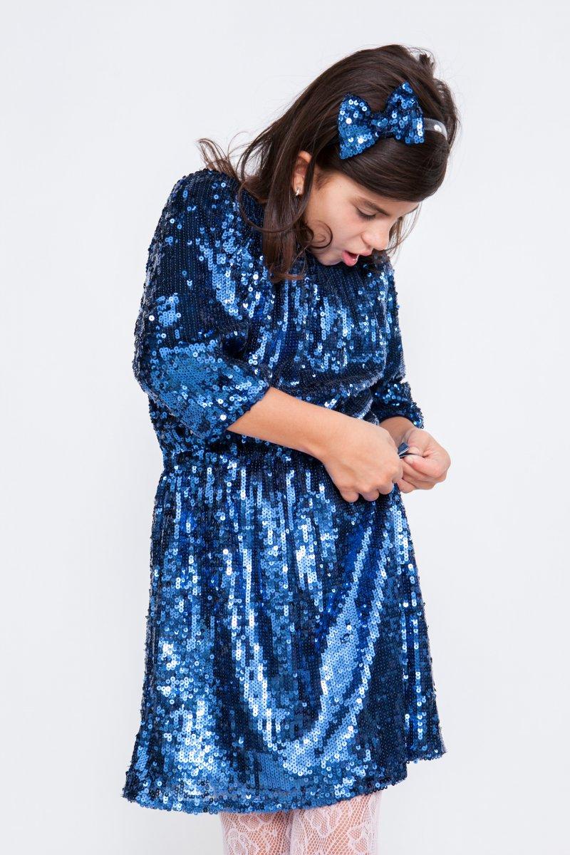 Rochite fete hey princess 240.02 gliter albastru 3luni-12ani