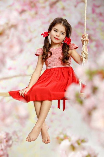 Rochite fete hey princess din vascoza 116 Red Roses 1-5ani