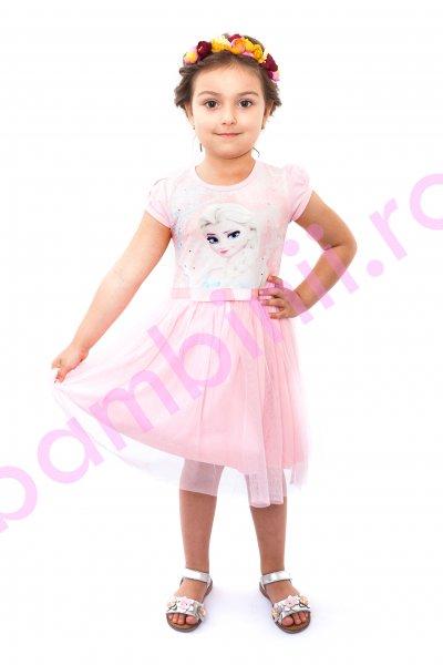 Rochite fetite breeze Elsa 8990 roz pal 104-134cm