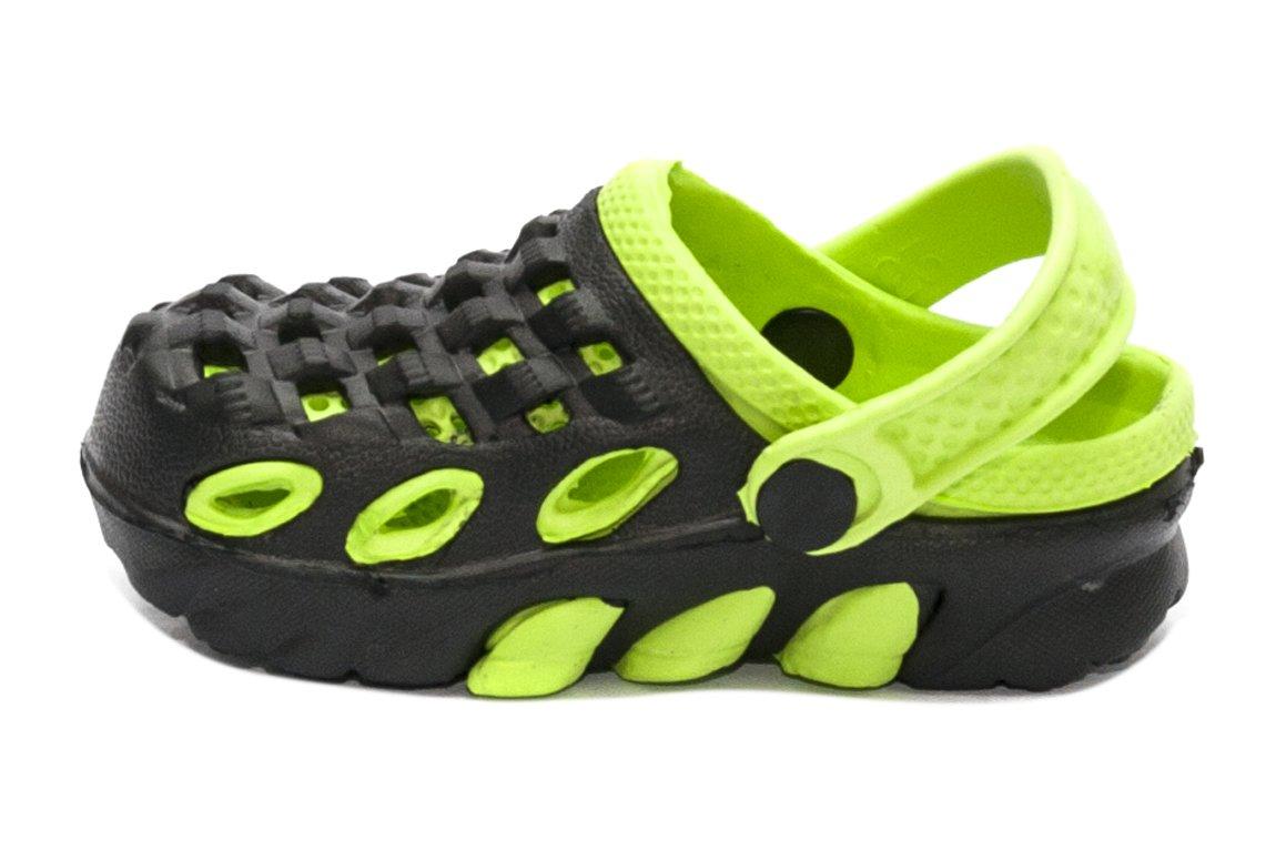 Saboti crocsi copii 1033 negru verde 18-35