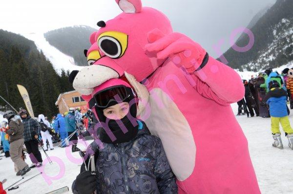 Salopete copii ski glo-story 6859 albastru gri 128-170cm