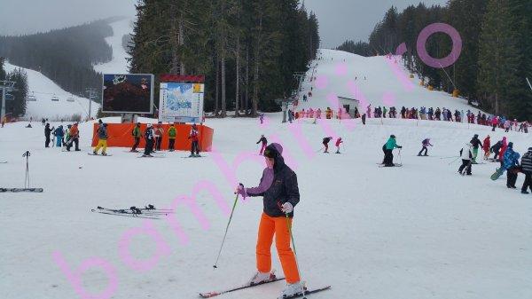 Salopete ski copii 6859 portocaliu gri 128-170cm