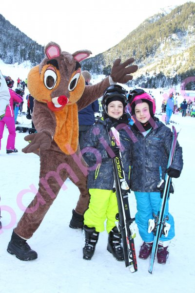 Salopete ski copii 6859 verde gri 128-170cm