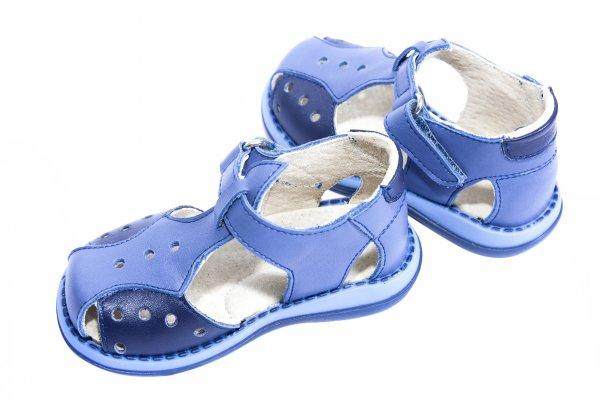 Sandale baieti 345 gri blu 18-25