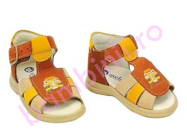 Sandale copii melania 67 maro