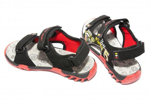 Sandale baieti 9729 negru rosu 30-35