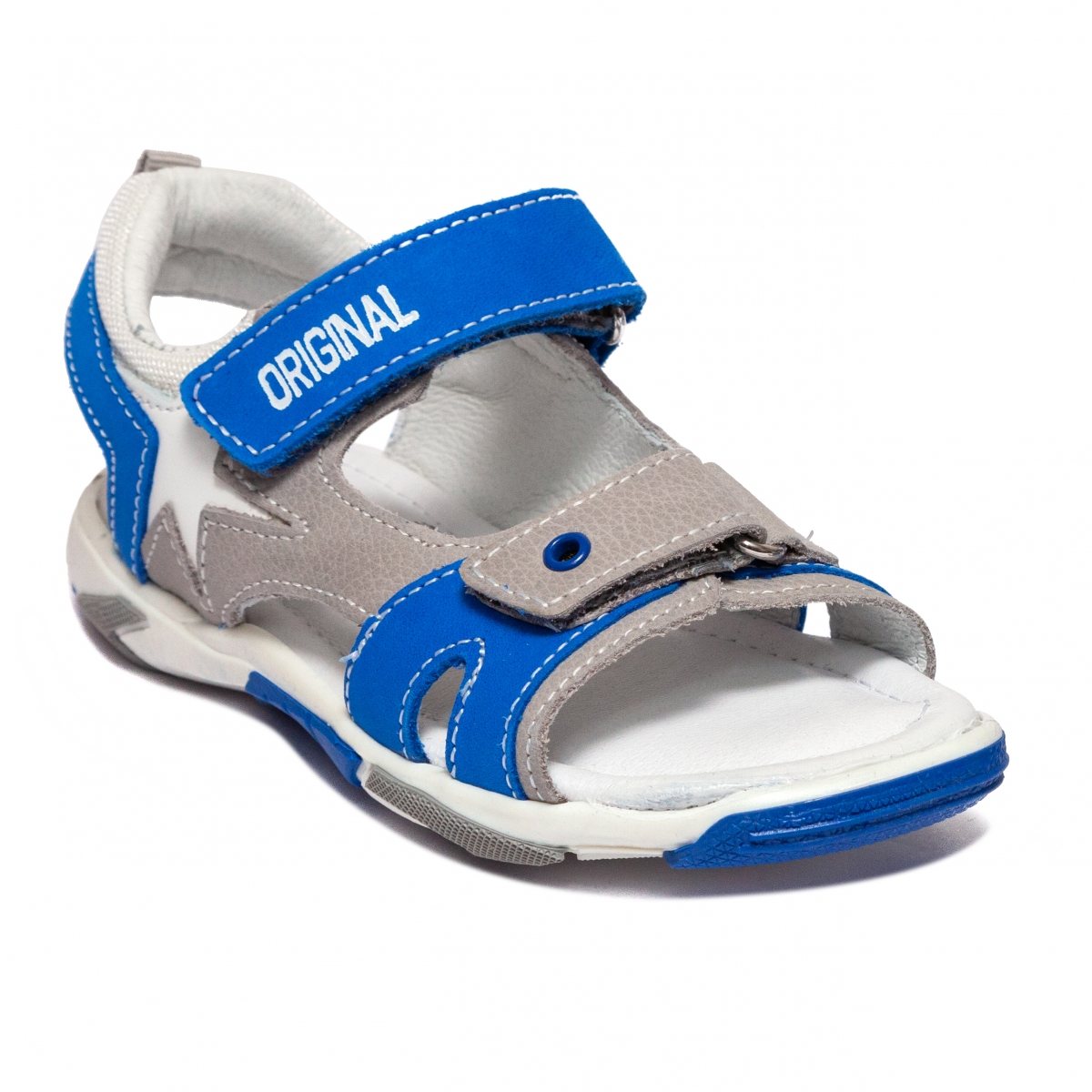 Sandale baieti Melania 6017 albastru gri 25-38