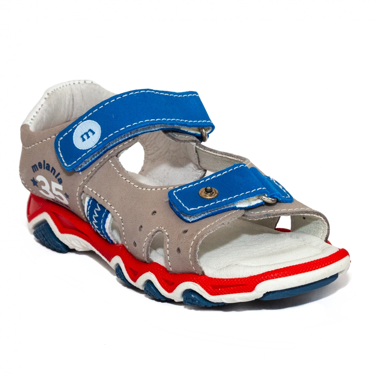 Sandale baieti Melania 4060 albastru gri 25-38