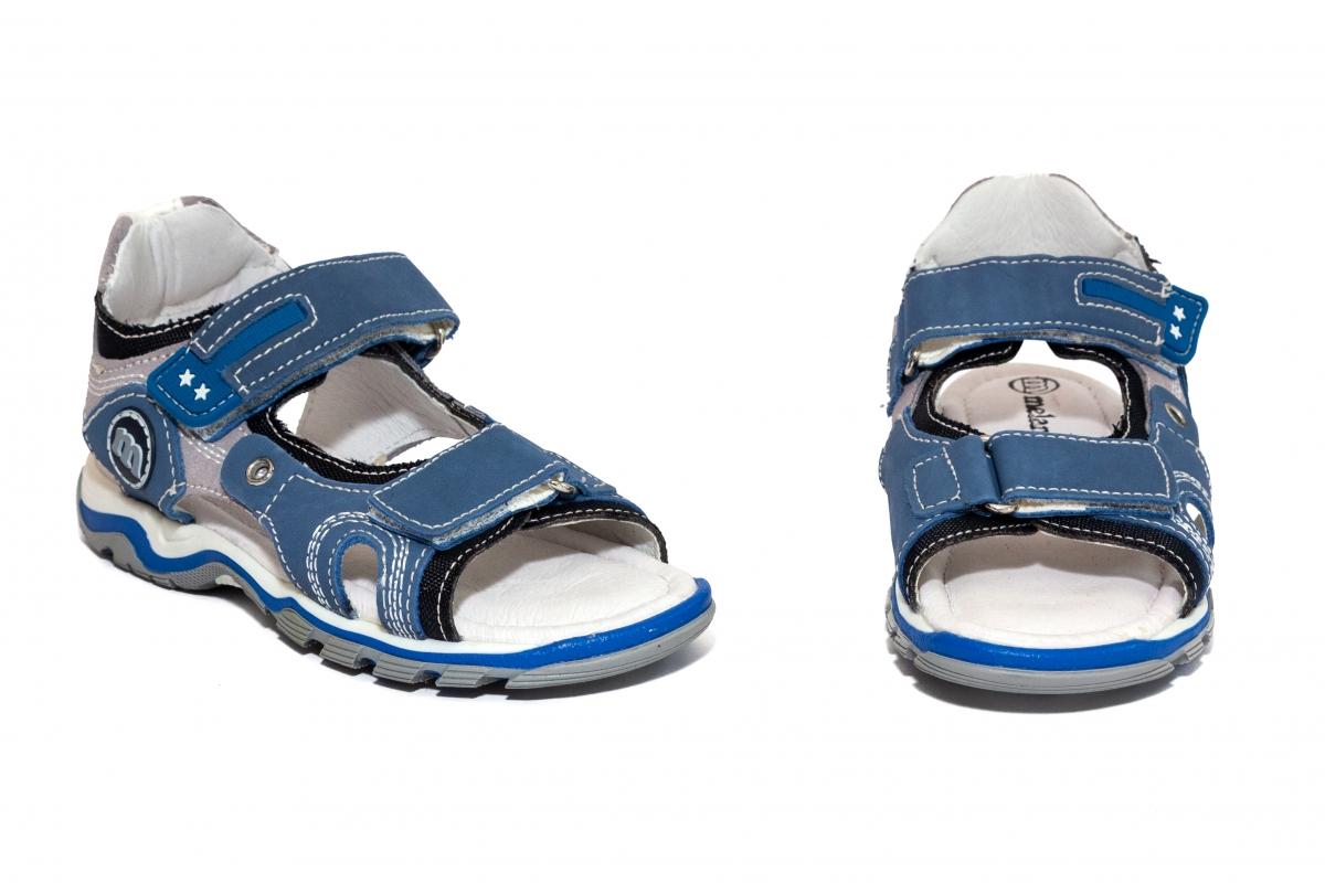 Sandale baieti Melania 4109 albastru gri 25-35