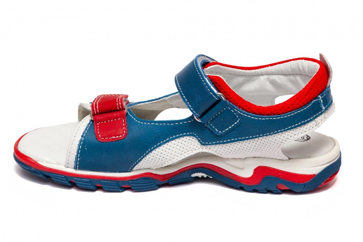 Sandale baieti Melania 6183 albastru rosu alb 26-38