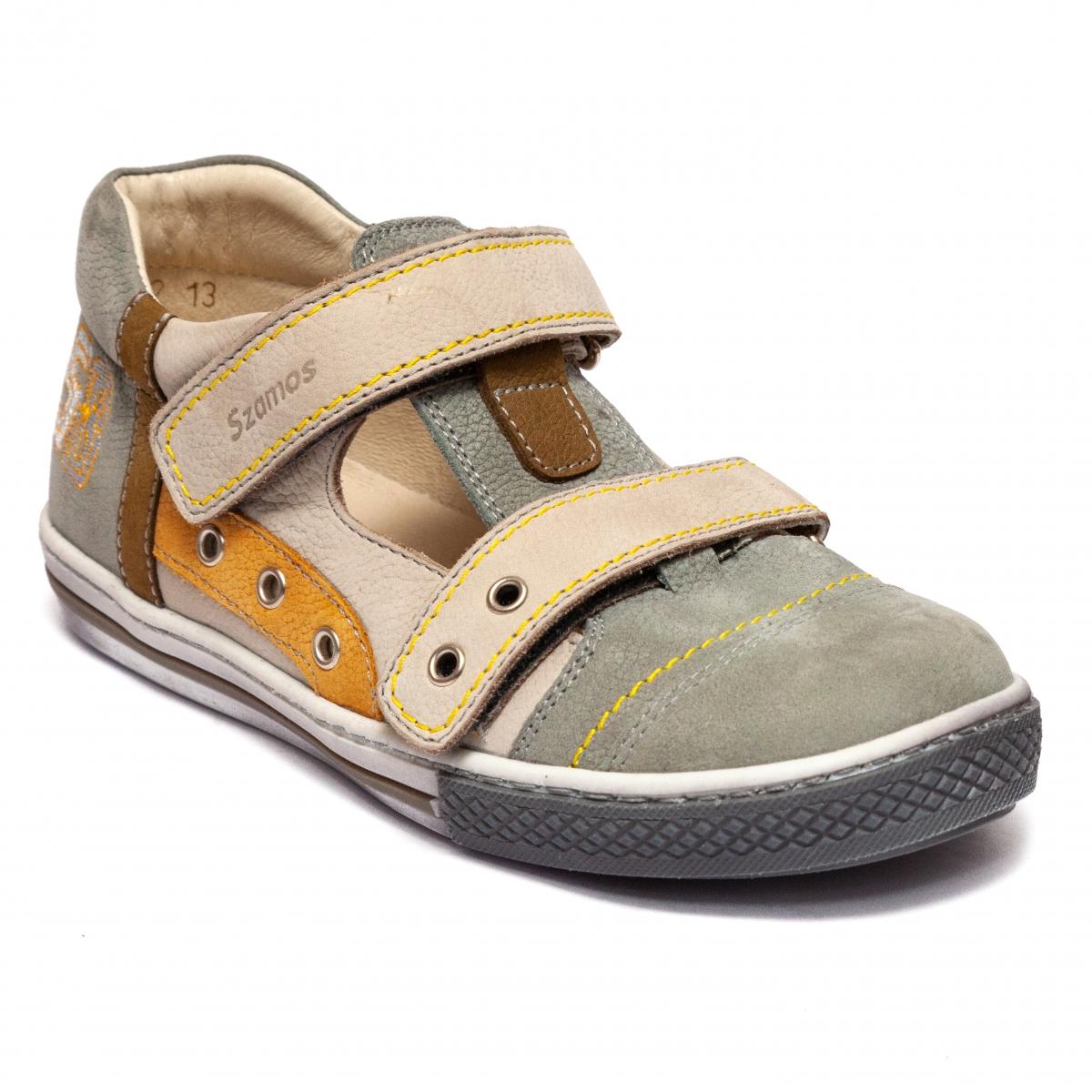 Sandale baieti Szamos 8546 gri bej 26-35