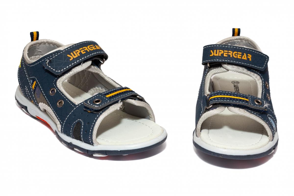 Sandale baieti brant din piele 1607 albastru 30-35