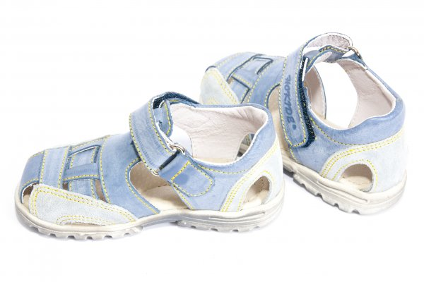 Sandale baieti hokide 109 albastru gri 25-30