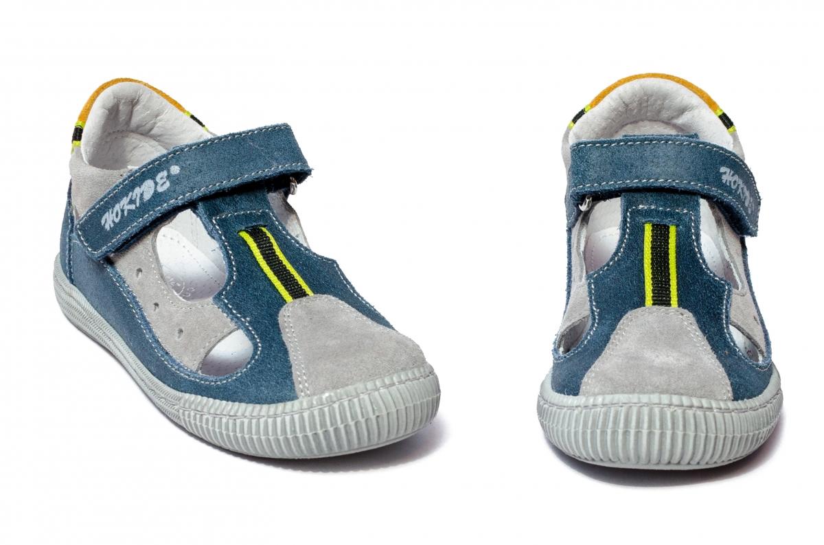 Sandale baieti hokide 139 albastru gri 26-30