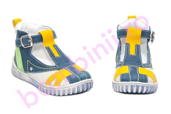 Sandale baieti hokide 306 albastru galben 18-25