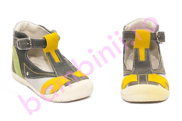 Sandale baieti hokide 306 gri galben 18-25