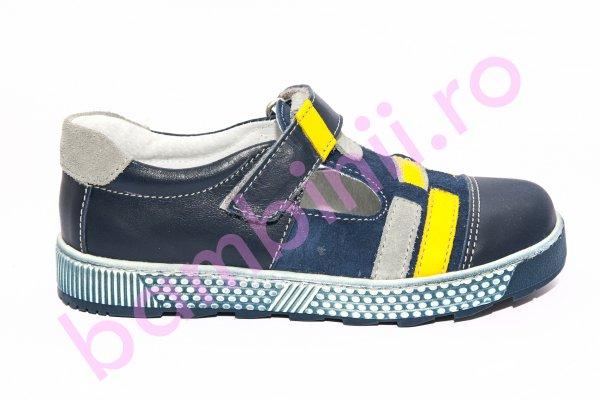 Sandale baieti hokide 382 albastru galben 20-32