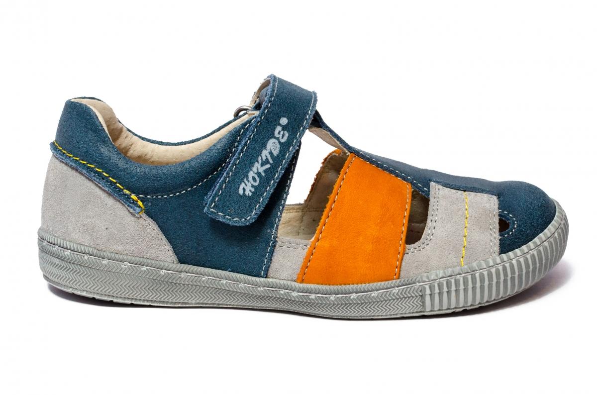 Sandale baieti hokide 422 albastru gri port 26-35