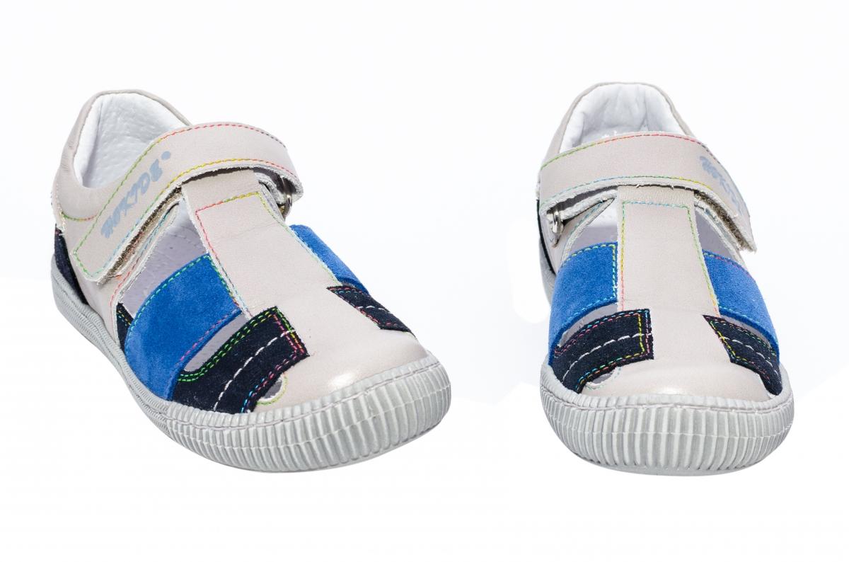 Sandale baieti hokide 422 gri albastru 26-30