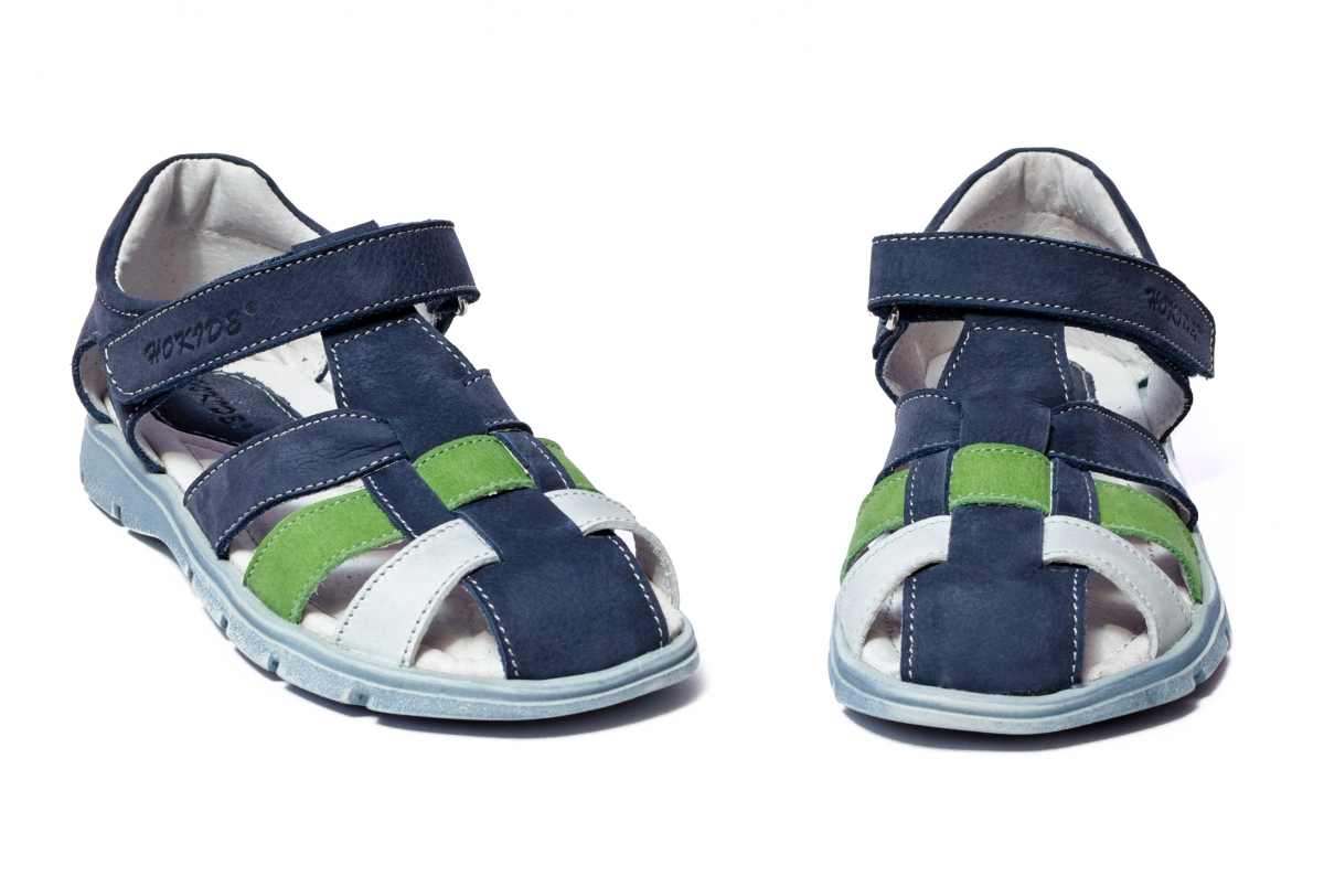 Sandale baieti hokide 426 blu verde 26-35