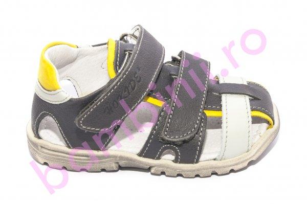 Sandale baieti hokide picior lat 357 gri galben bleu 22-27