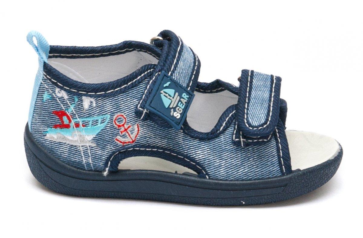 Sandale baieti moi si flexibile brant piele 1112 albastrru 20-25