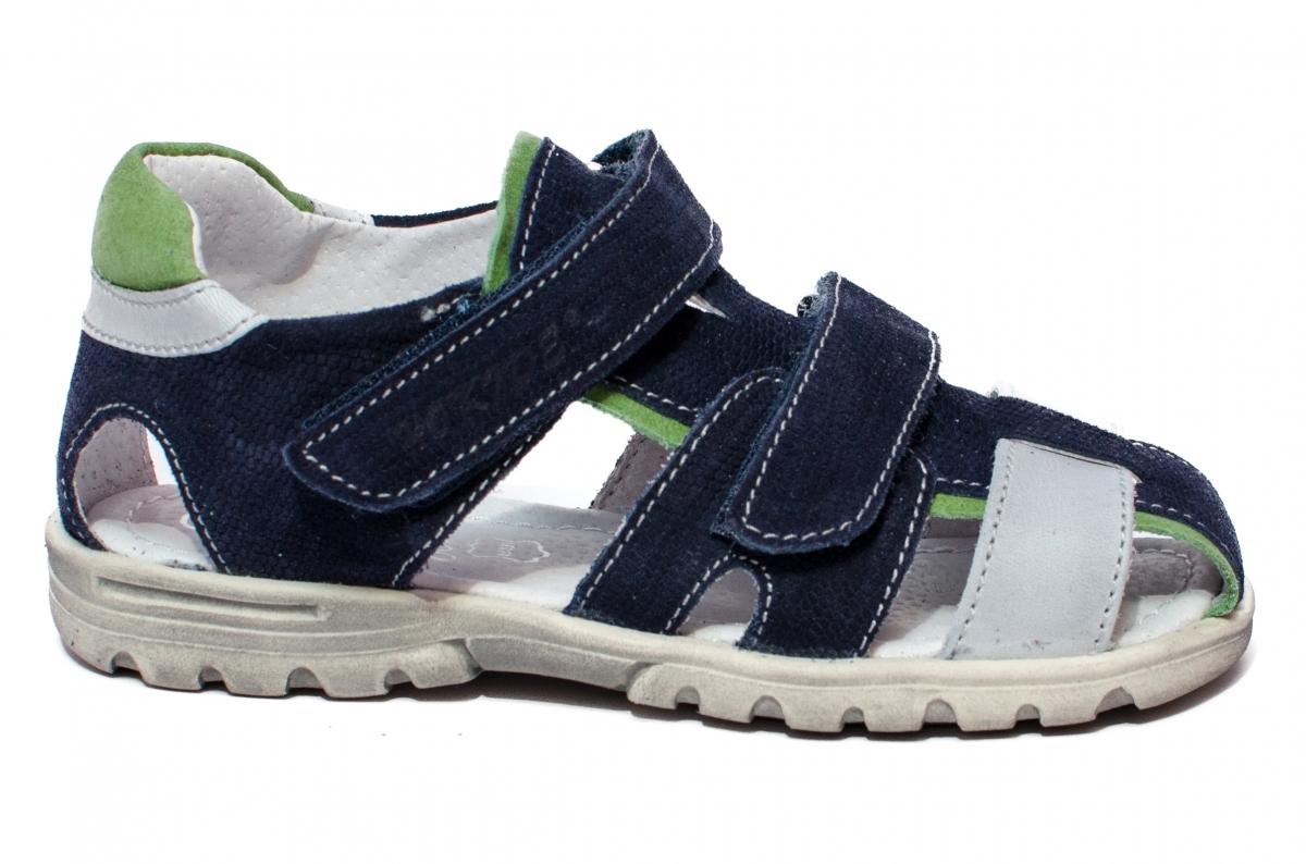 Sandale baieti picior lat hokide 357 blu gri v 26-32