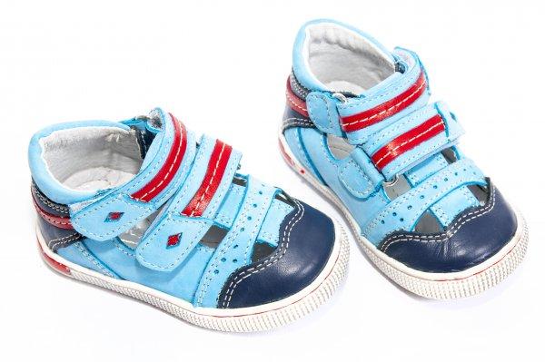 Sandale baieti piele 120 albastru 19-32