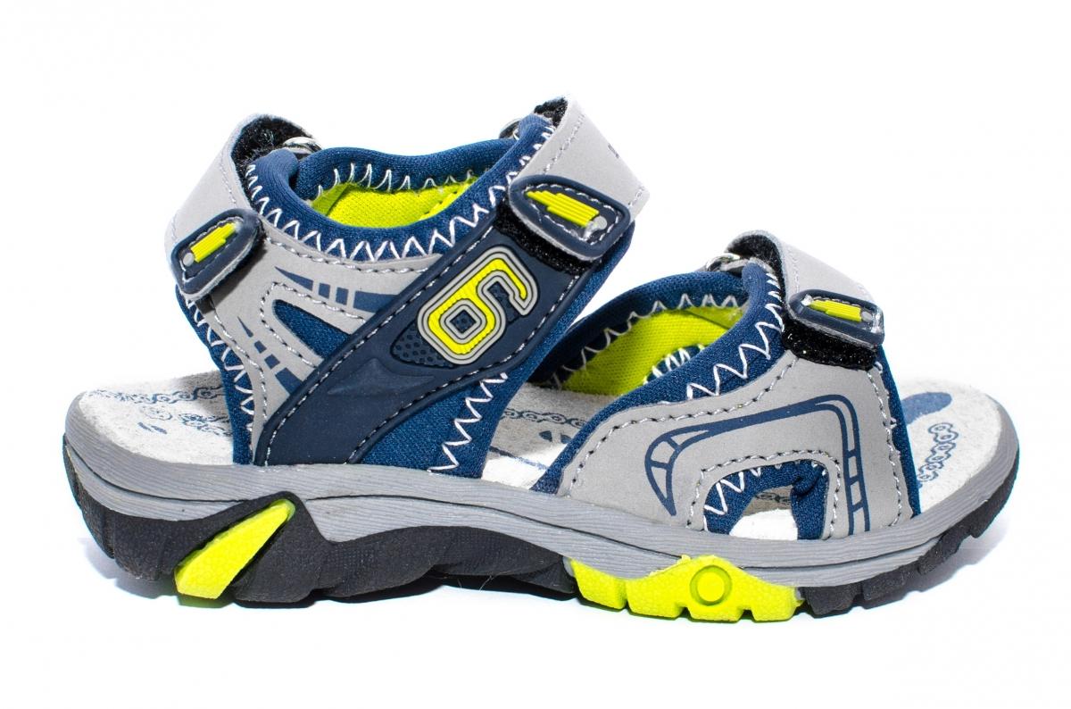 Sandale baieti sport 481 gri blu 24-35