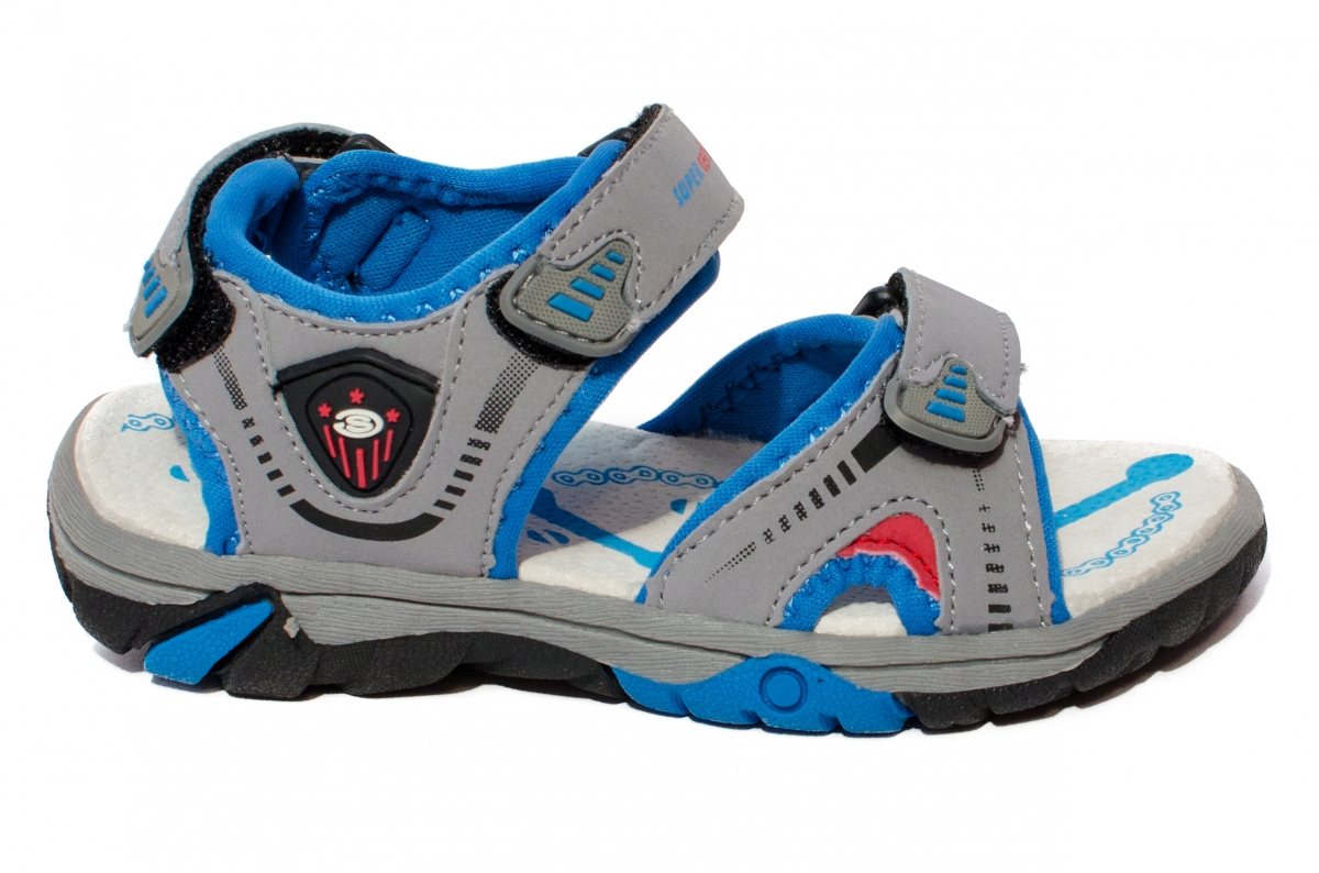 Sandale copii sport 483 negru verde 24-35