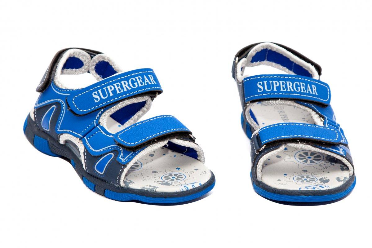 Sandale baieti super gear 1341 albastru 24-35