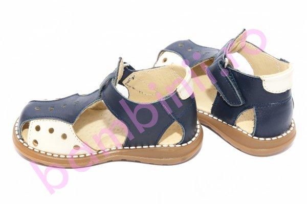 Sandale baieti 345 blu bej 18-25