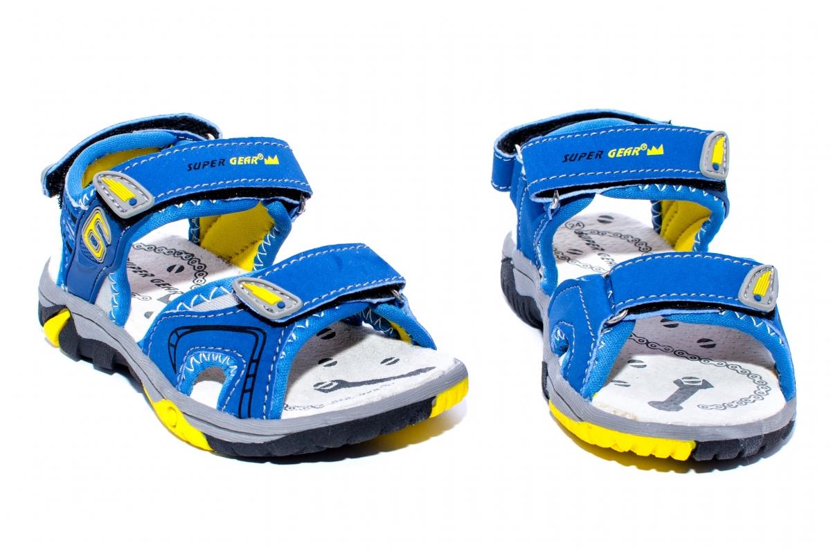 Sandale copii 481 albastru galben 24-35
