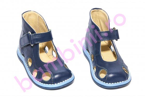 Sandale copii picior lat gros pufos 550 blu new 18-25