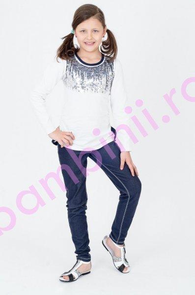 Sandale piele copii 581 alb+croco