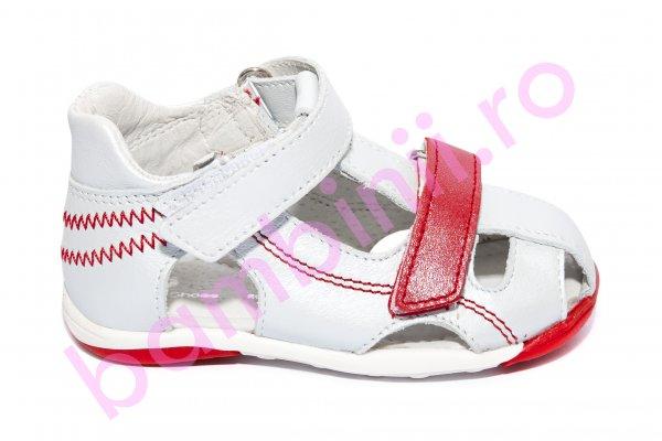 Sandale copii Mario 18-26 alb rosu