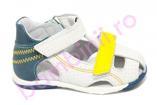 Sandale copii Mario alb albastru galben 18-26